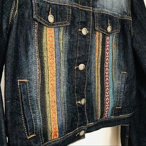 Hot Kiss Jackets & Coats - Boho Embroidered Denim Jacket